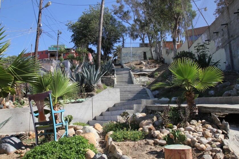 Amorphica's work on a Tijuana staircase has improved a pedestrian thoroughfare that was previously unsafe.