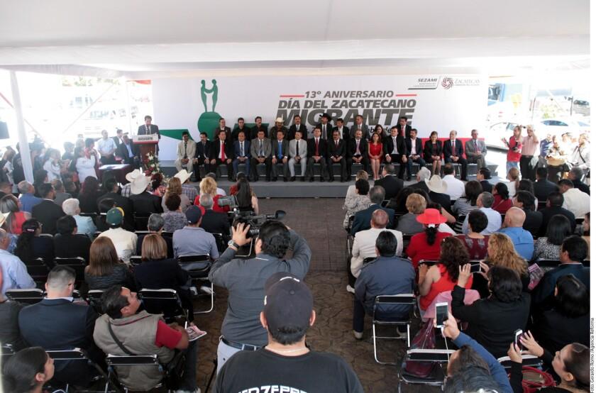 Representantes de organizaciones de paisanos en EU participaron en el Día del Zacatecano Migrante.