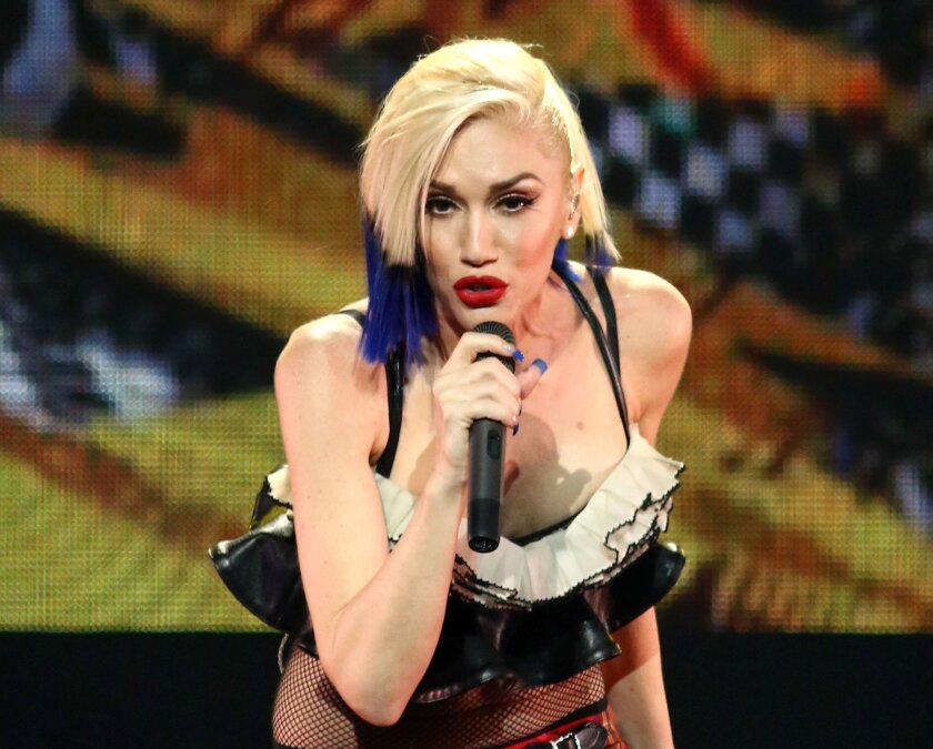 FILE - In this Oct. 17, 2015 file photo, Gwen Stefani performs during an exclusive concert in New York. Target is sponsoring a four-minute live video by Gwen Stefani during The Grammy Awards on CBS on Monday, Feb. 15, 2016, an unprecedented move that capitalizes on the current vogue for live TV eve