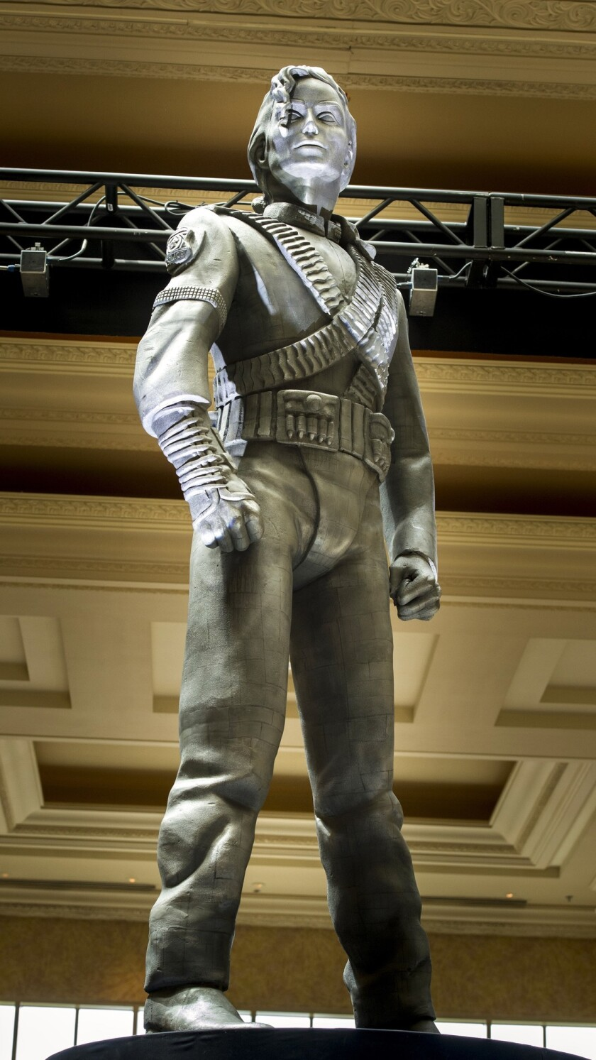 The statue of Michael Jackson is 10 feet tall and weighs 1,500 pounds.