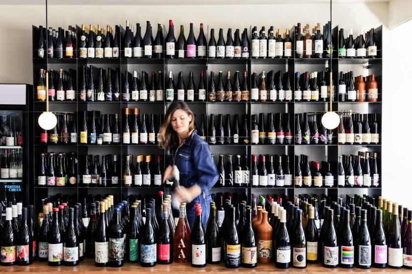 Owner Natalie Hekmat at Voodoo Vin in Virgil Village