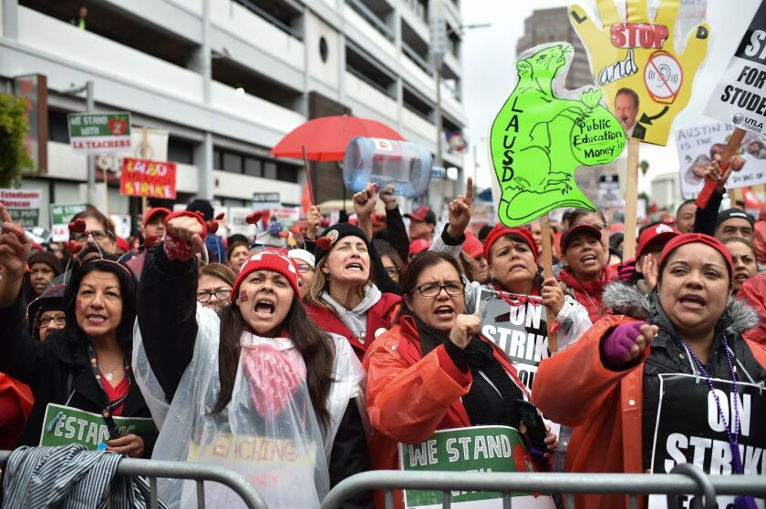 L.A. teachers on strike