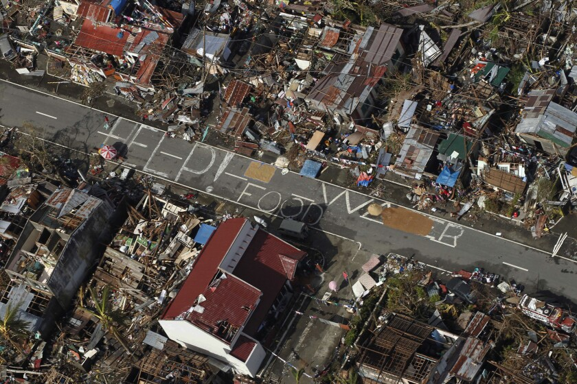 Typhoon Haiyan, one of the strongest storms on record, slammed into several Philippine islands in November, leaving a wide swath of destruction and thousands of people dead.