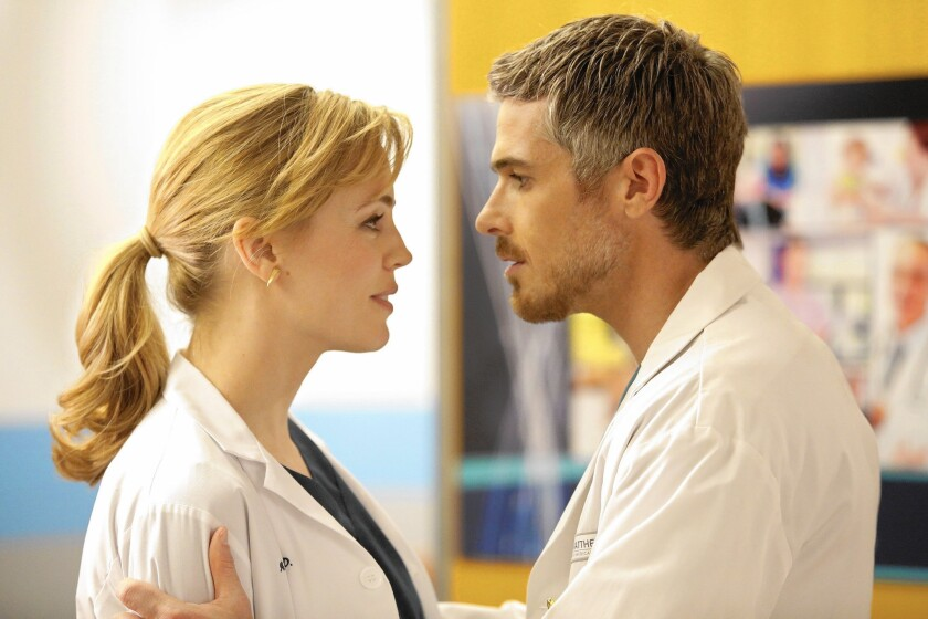 """Melissa George and Dave Annable in """"Heartbeat."""""""