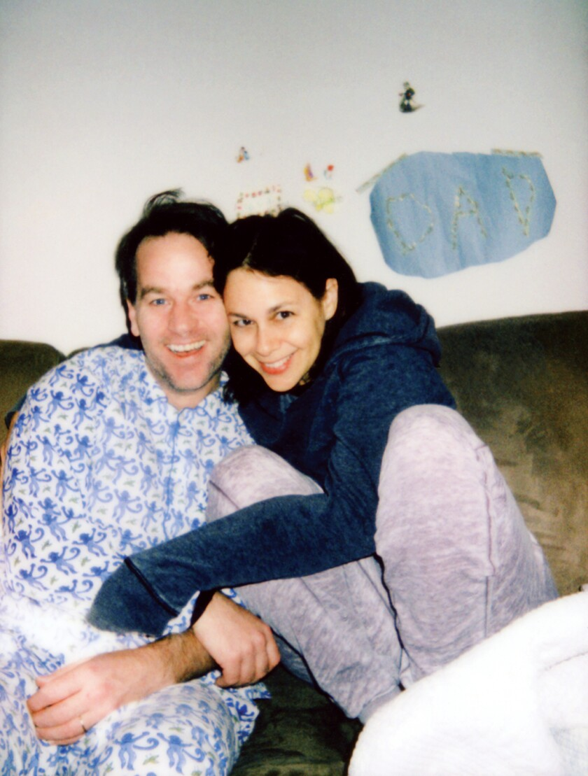 "Mike Birbiglia and his wife, poet J. Hope Stein, whose verse is sprinkled liberally throughout his memoir, ""The New One."""