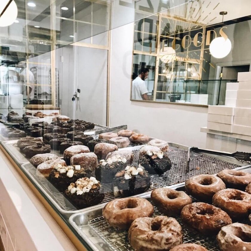 At The Goods pastry shop in Carlsbad Village, fresh doughnuts are served up every hour.