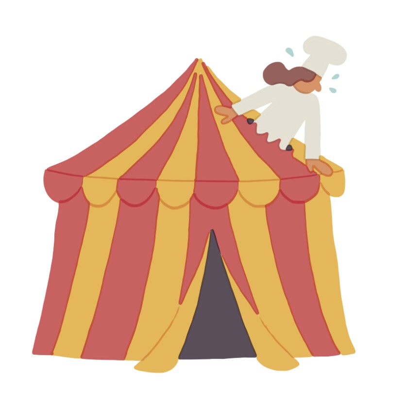 festival industrial chef tent
