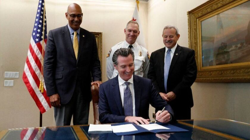 California Governor Newsom Signs Wildfire Safety and Accountability Legislation, Sacramento, USA - 12 Jul 2019