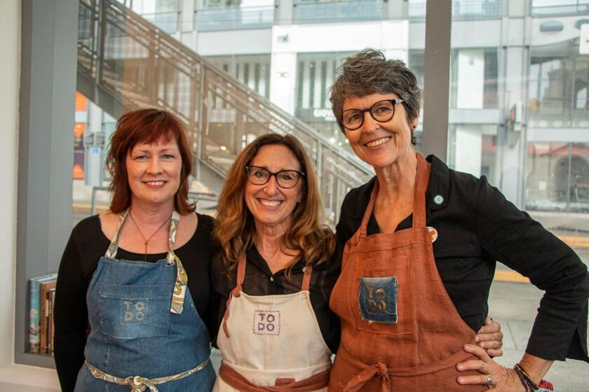 Artists Siobhan Arnold, Michelle Montjoy and Anna O'Cain, the trio behind 'ToDo: A Mending Project'