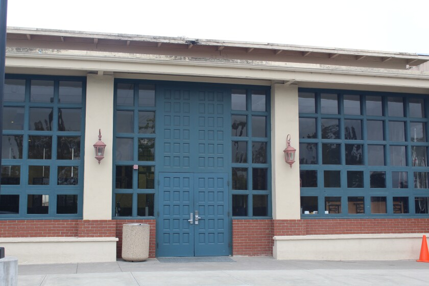 The gym fascia, the overhang just below the roof, will be repaired over the summer.