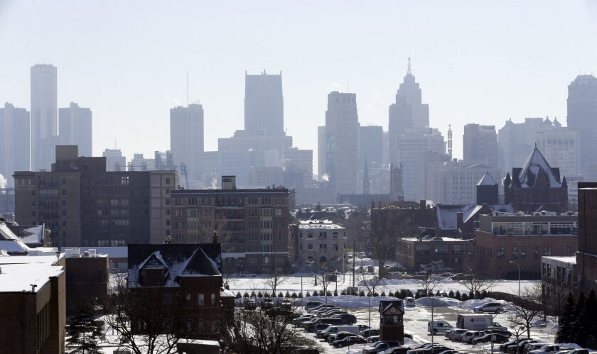 The Detroit skyline is seen from the city's midtown. Detroit's creditors and residents got their first official glimpse Friday of a planned road out of bankruptcy.