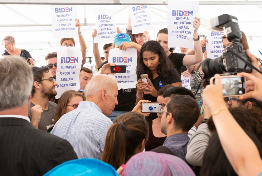 Democratic candidate for United States President,Former Vice President Joe Biden campaigning in New Hampshire, Dover, USA - 12 Jul 2019