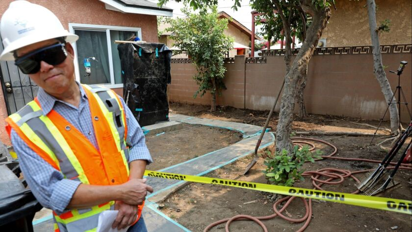 LOS ANGELES, CALIF. -- THURSDAY, AUGUST 9, 2018: Fred Zanoria, supervisor field operations unit, Dep
