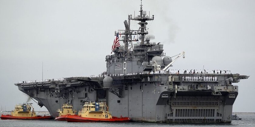 The 847-foot Makin Island traveled more than 54,000 miles during its seven month deployment.