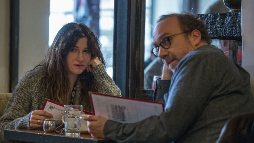 """From left to right, Kathryn Hahn and Paul Giamatti in a scene from """"Private Life."""""""