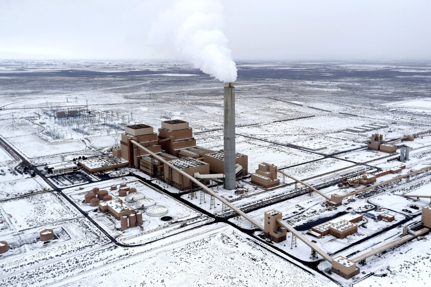 The coal-fired Intermountain Power Plant outside Delta, Utah