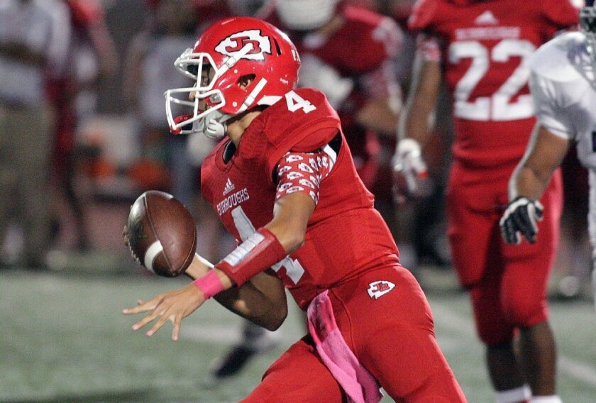 Burroughs quarterback Steven Hubbell guided his team to a Pacific League championship and earned All-CIF Southern Section Southeast Division accolades. (Tim Berger/Staff Photographer)