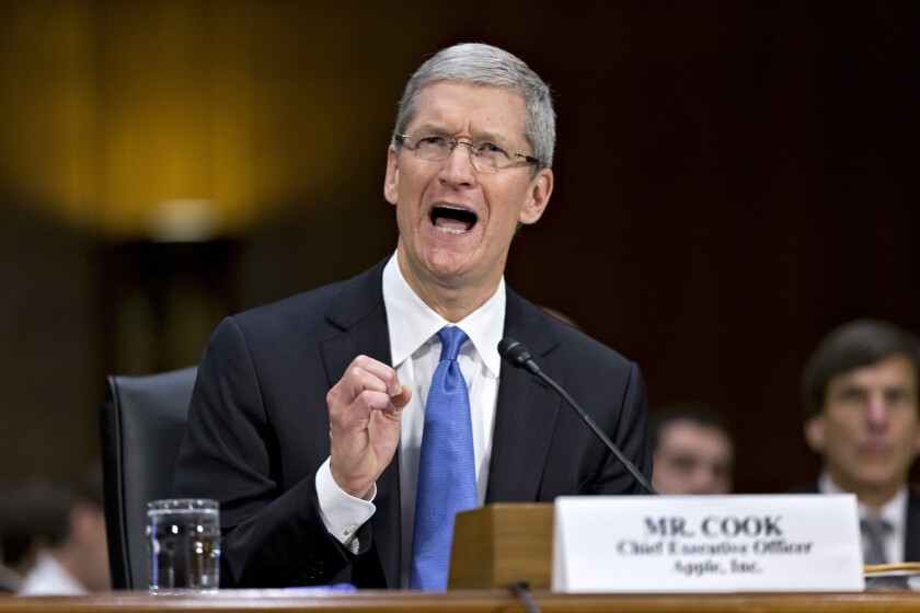 Apple Inc. CEO Tim Cook testifies before a Senate subcommittee about the company's offshore tax policies on May 21, 2013.