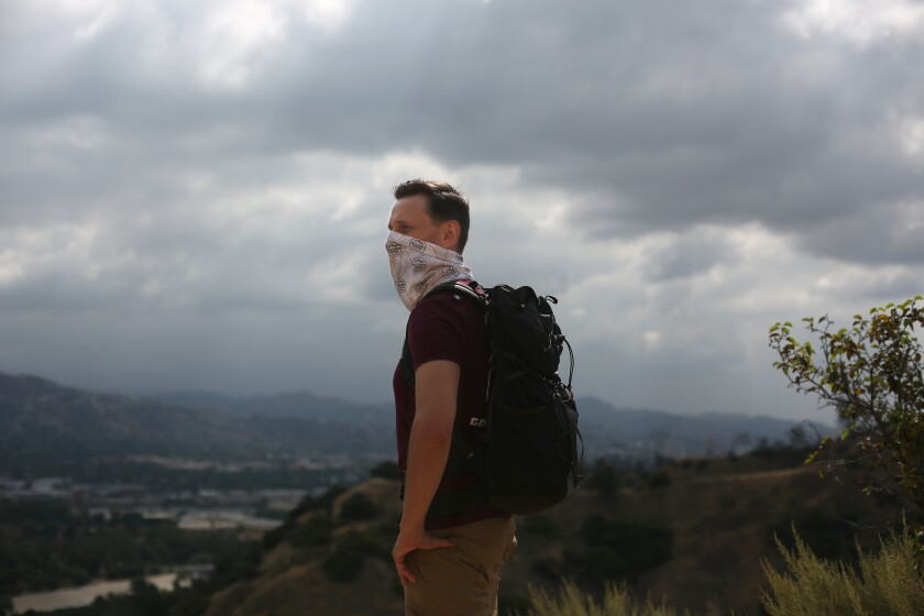 Casey Schreiner on one of his favorite trails at Griffith Park.