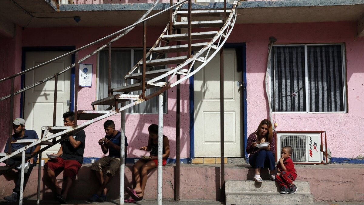 Asylum seekers forced to 'remain in' Mexicali face long journey to
