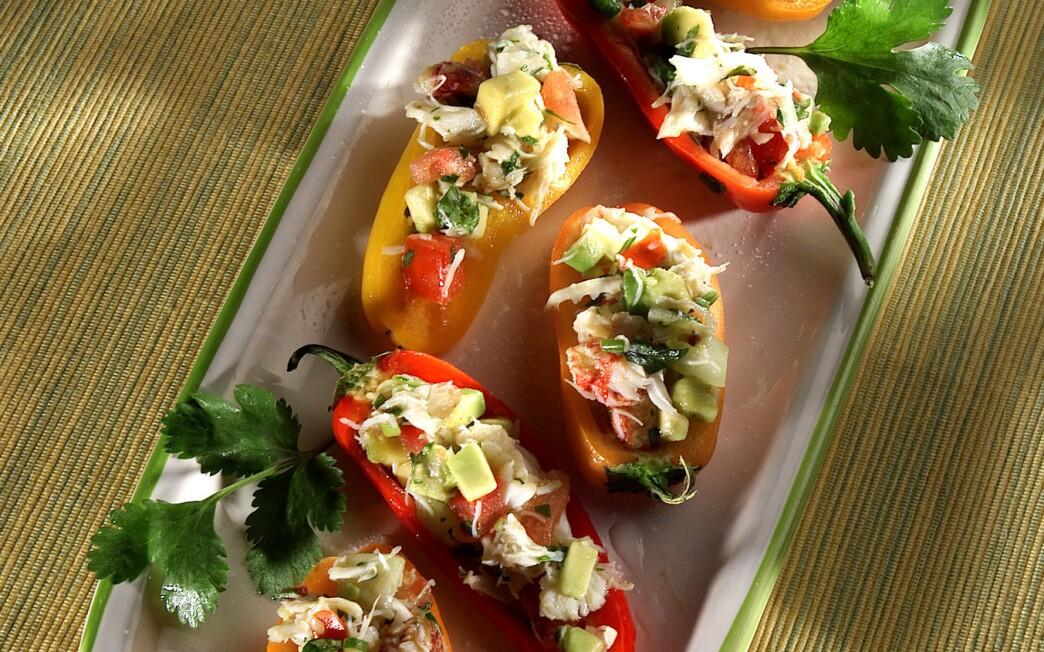 Baja Crab-Stuffed Peppers