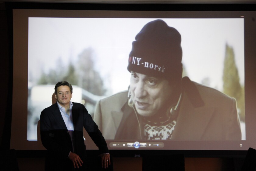 Ted Sarandos, chief content officer for Netflix, in his Beverly Hills office on Dec. 15, 2011.