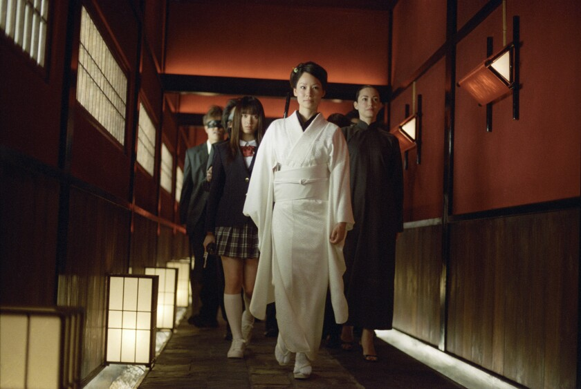 "Lucy Liu as the deadly O-Ren Ishii in Quentin Tarantino's ""Kill Bill."""