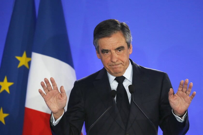 Once the front-runner in the 2017 presidential election, Francois Fillon, 65, has denied wrongdoing.