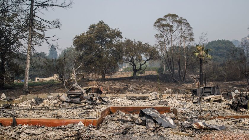 Napa neighborhood destroyed in fire