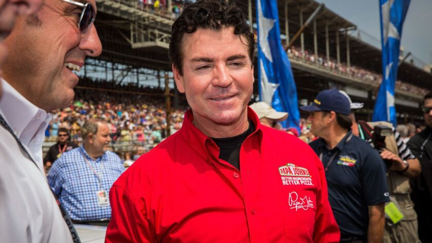 Papa John's sales slump worsened last summer after founder John Schnatter, shown above in 2015, used a racial slur on a conference call.