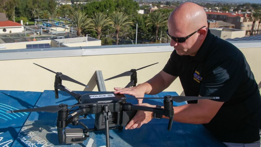 SAN DIEGO, CA January 18th, 2019 | Standing on the roof launch pad at Chula Vista Police department,