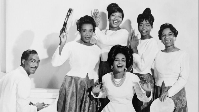 Clara Ward (1924-1973) with her gospel group, 'The Famous Ward Singers.' She replaced the traditional gospel choir robes with