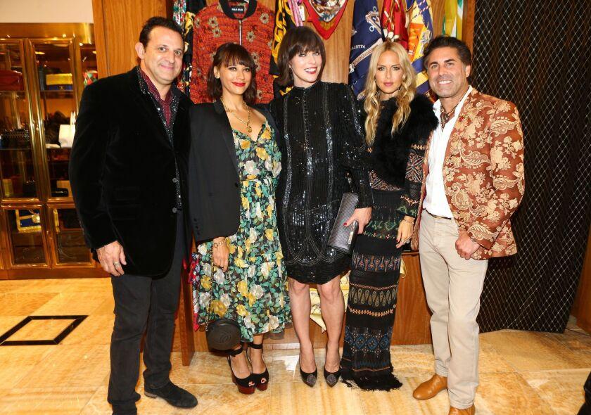 Seth Weisser, Rashida Jones, Milla Jovovich, Rachel Zoe and Gerard Maione