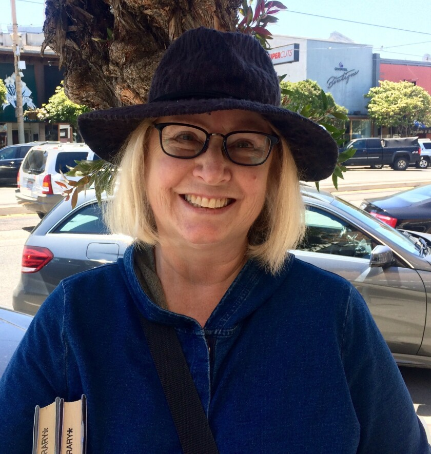Mary Burns, a mystery writer in San Francisco's West Portal neighborhood, wants California's next go