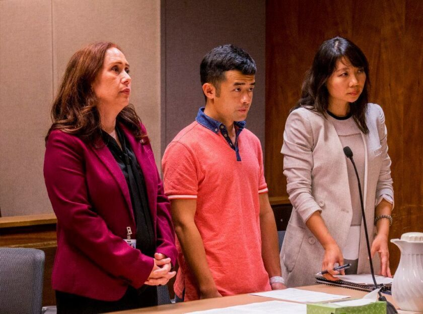 Yu Wei Gong pleads guilty to manslaughter in the death of his mother on Friday in Honolulu.