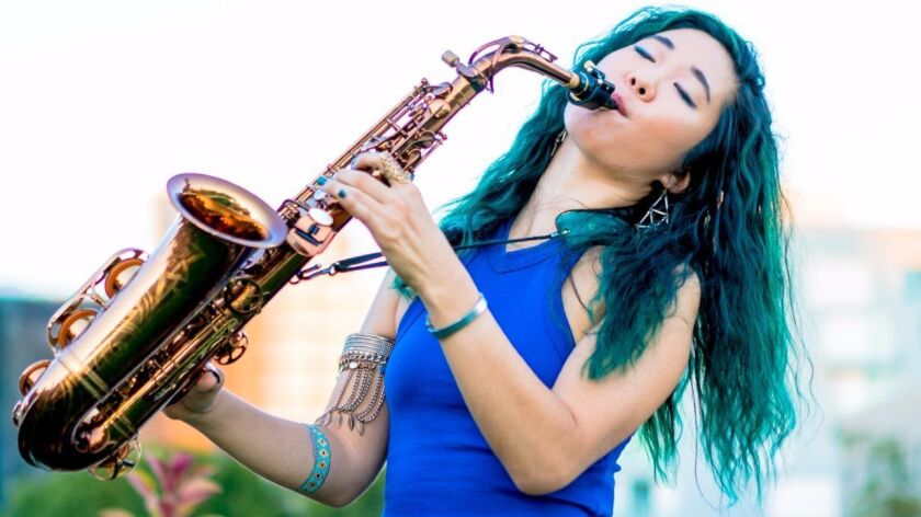 """Now 24, rising jazz saxophonist Grace Kelly was only 12 when she recorded the first of her 10 albums. She performs Saturday, March 18, as part of the """"Women in Jazz"""" concert at Jacobs Music Center's Copley Symphony Hall."""