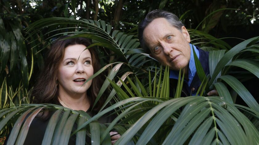 LOS ANGELES, CA-OCTOBER 8, 2018: Melissa McCarthy and her co-star Richard E Grant are photographed a