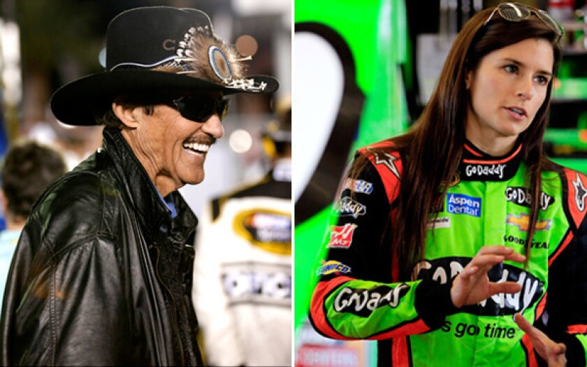 Richard Petty was all smiles at Daytona International Raceway while Danica Patrick was all business in the garage.