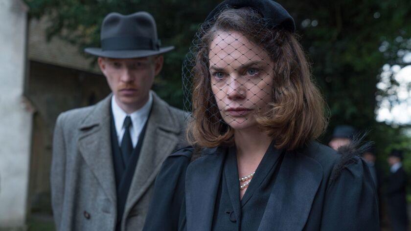 """Domhnall Gleeson and Ruth Wilson in """"The Little Stranger."""""""