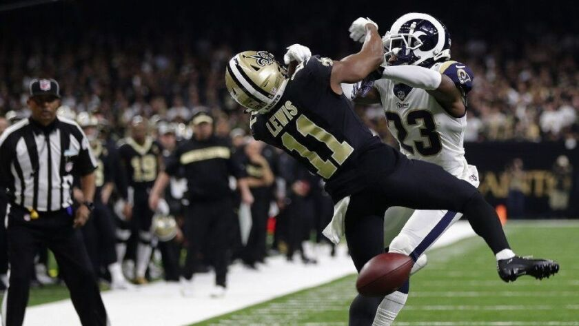 The New Orleans Saints are still upset about a referee's blown call in the NFC championship game against the Los Angeles Rams.