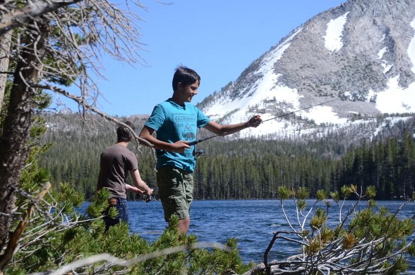 Angler, Davis Lake, Eastern Sierra, in 2017.