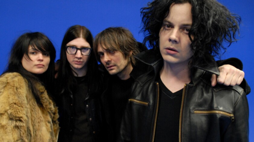 Jack White, right, with his new band, the Dead Weather. From left, Alison Mosshart, Jack Lawrence and Dean Fertita.