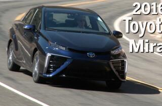 Checking out the 2016 Toyota Mirai