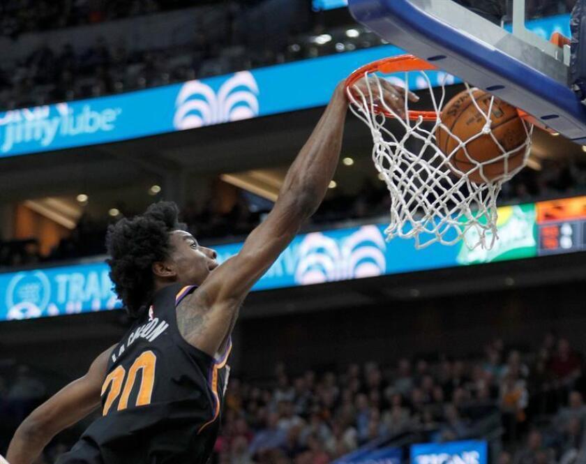 Josh Jackson de los Phoenix Suns en acción durante a un partido de baloncesto de la NBA. EFE/Archivo