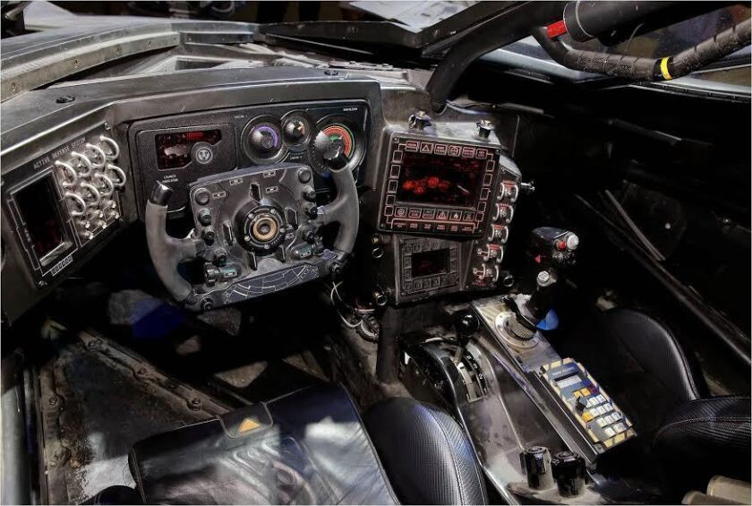 The new Batmobile: So many bat-knobs and bat-buttons!