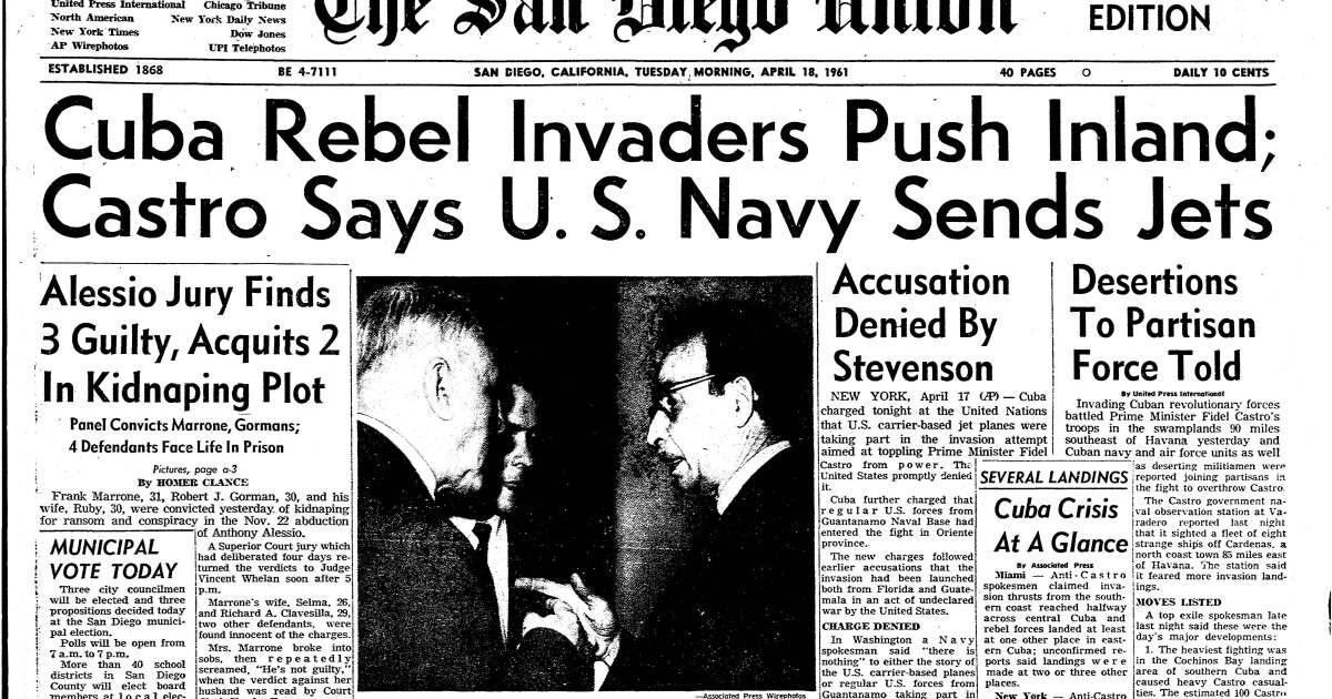 From the Archives: 60th anniversary of the Bay of Pigs invasion