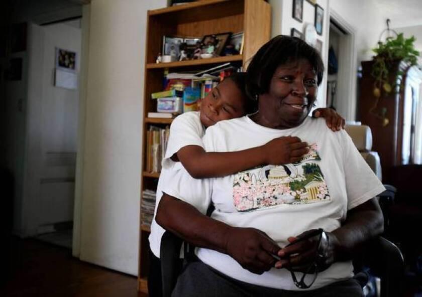Bessie Clayborne, 83, has been raising 6-year-old grandson Malcolm since he was a newborn.