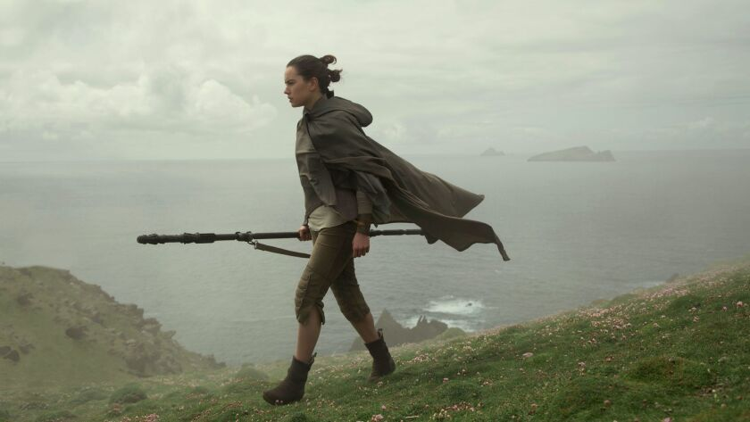 """The Last Jedi,"" with Daisy Ridley, led at the box office over the long holiday weekend, becoming the highest-grossing movie of 2017."