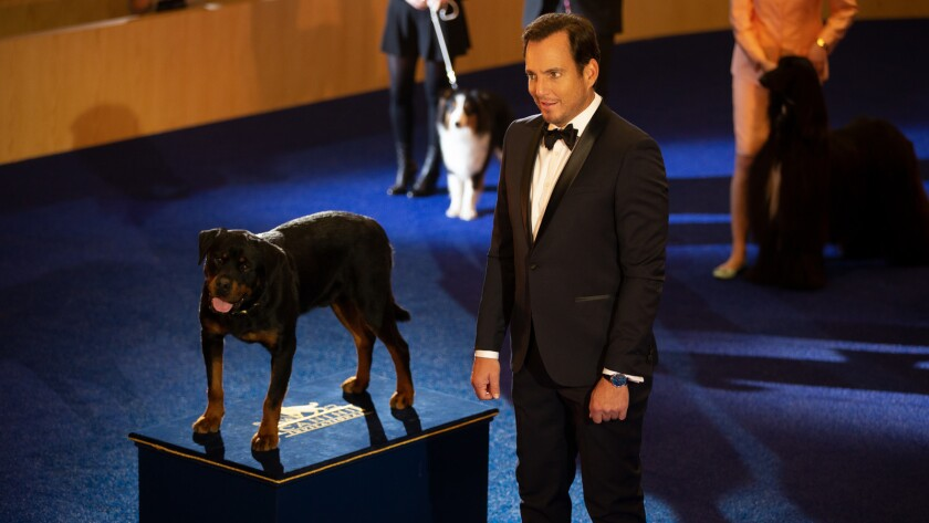 """Max (voiced by Chris """"Ludacris"""" Bridges) and Will Arnett in the movie """"Show Dogs."""""""
