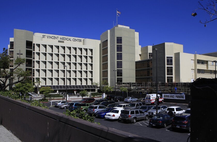 A bankruptcy judge on Friday approved the sale of St. Vincent Medical Center to Dr. Patrick Soon-Shiong.